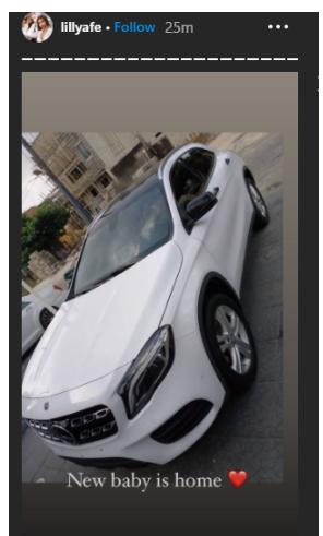 Actress Lilian Afegbai flaunts her new car