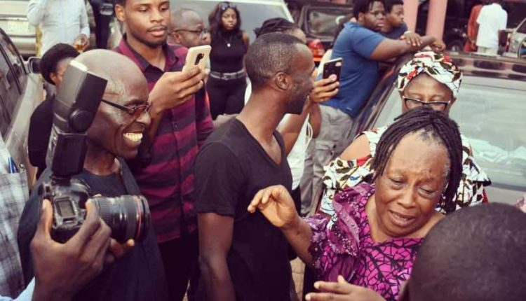 Actress Patience Ozokwor sheds tears of joy as she receives a car gift from her children on her birthday