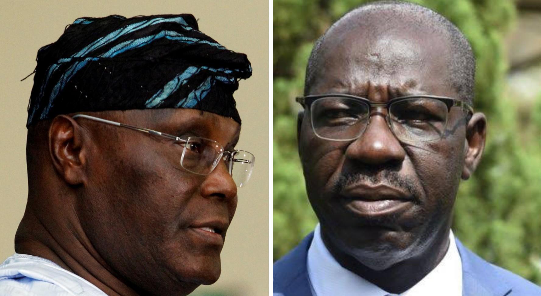 Edo gov election: Atiku congratulates Obaseki