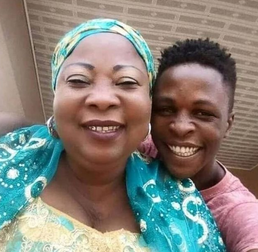 Nigerians react as photo of Laycon and his mum goes viral
