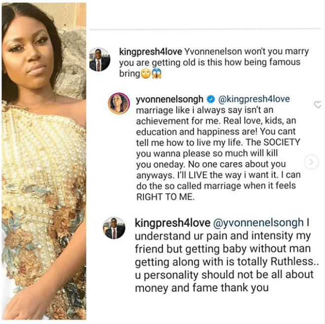 Actress, Yvonne Nelson reveals why she does not see Marriage as an achievement