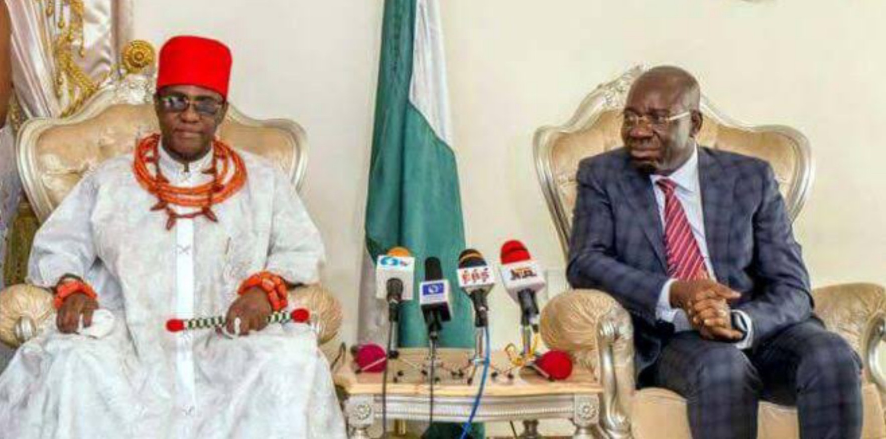 Edo Guber: Oba of Benin reacts to Obaseki's re-election