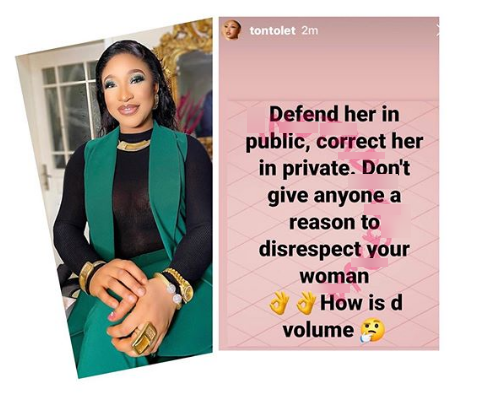 Tonto Dikeh hints on what might have led to her failed marriage to Churchill