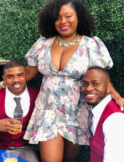 Lady opines that marrying 2 men is greater than 1 as she flaunts her alleged husbands
