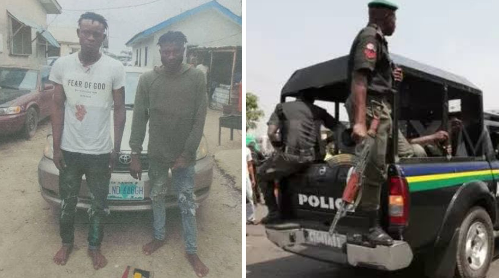 Police nab two suspected members of robbery gang that specialize in snatching vehicles from Uber drivers in Lagos