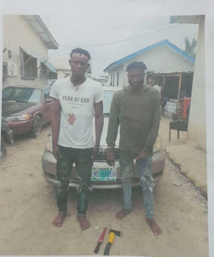 Two suspects arrested for allegedly robbing Uber driver in Lagos