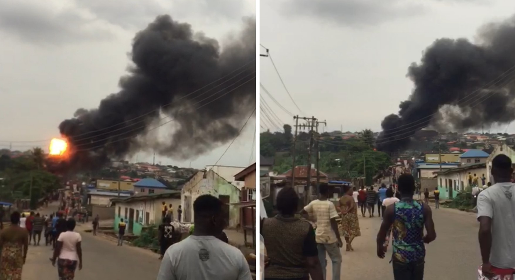 BREAKING: Barely 24hours after Lokoja explosion, another inferno hits Lagos, Ogun communities