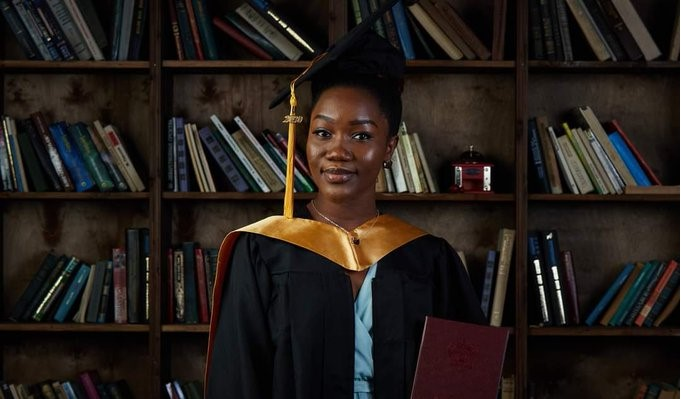 Nigerian lady graduates with 5.0 CGPA from Russian university (Photos)