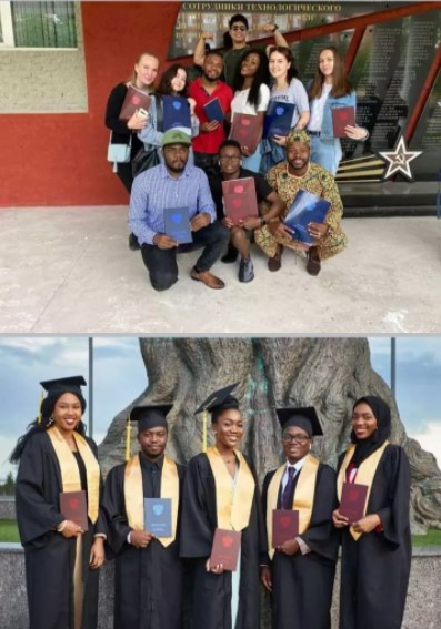 Nigerian lady, Ogechukwu Ozoani, sets new record, graduates with 5.0 CGPA from Russian versity (Photos)