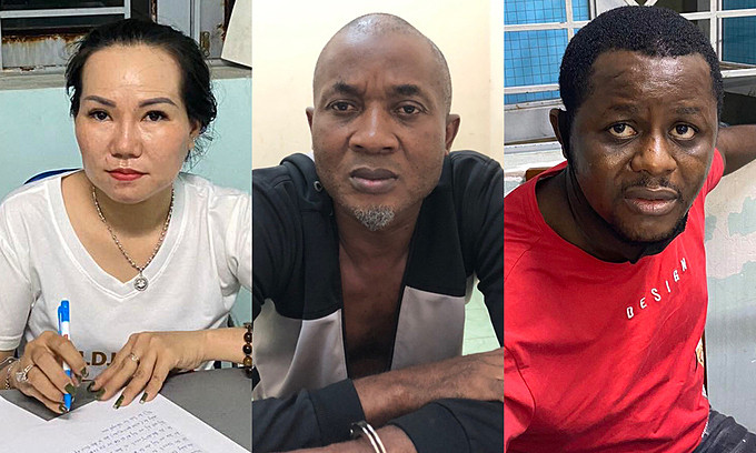 Two Nigerian men, one white woman arrested in Vietnam for drug trafficking
