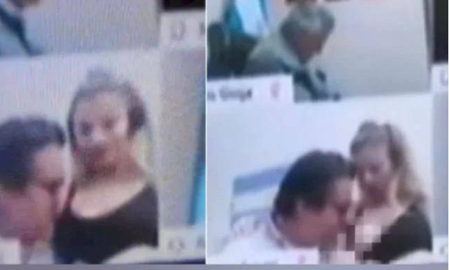 Argentinian politician 'ashamed' after he sucks woman's breast on virtual congressional session