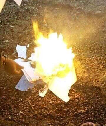 Frustrated graduate from Katsina reportedly sets all his certificates ablaze due to inability to secure a job