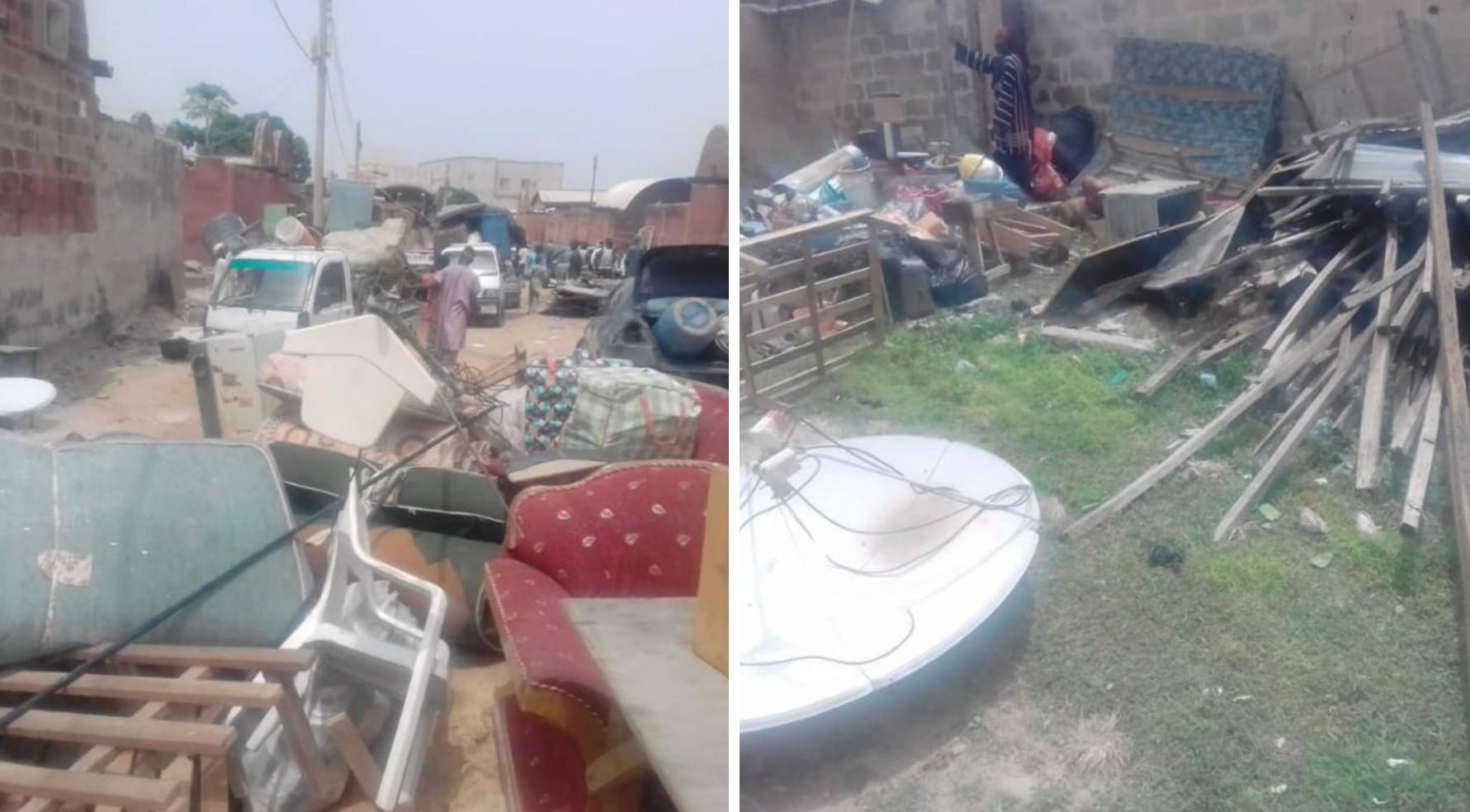 Kano govt demolishes 130 houses at Hajj camp [PHOTOS]