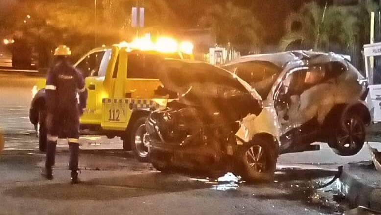 PHOTO: Tragedy as one dead, three injured in Ikoyi fatal collision