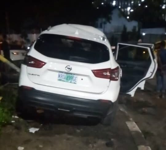 PHOTOS: Tragedy as one dead, three injured in Ikoyi fatal collision