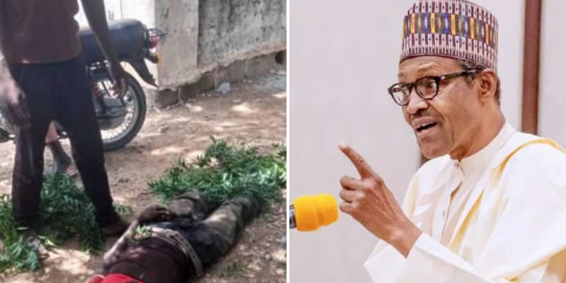Protester asking Buhari, Katsina governor to resign over banditry is shot dead by police, many others injured