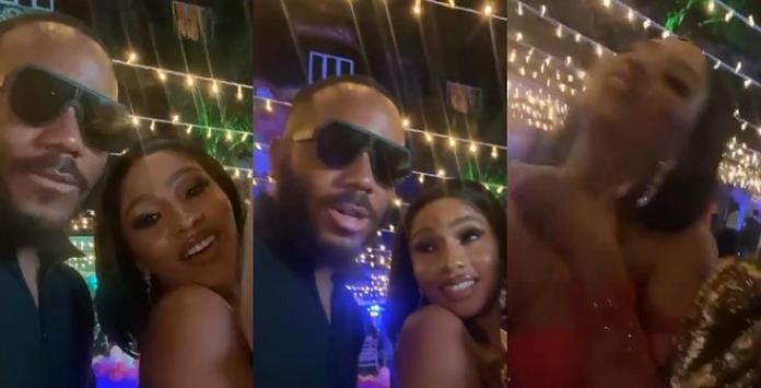 """Kill me, choke me"" – Mercy Eke gushes over Kiddwaya during her birthday party (Video)"