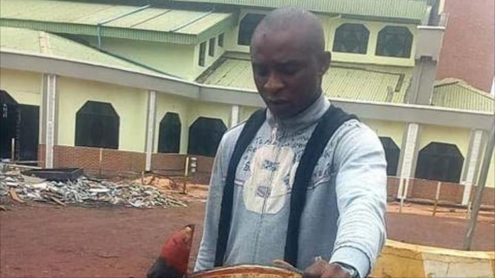 PHOTO: Police apprend middle-aged man for 'arresting a god' in Nsukka