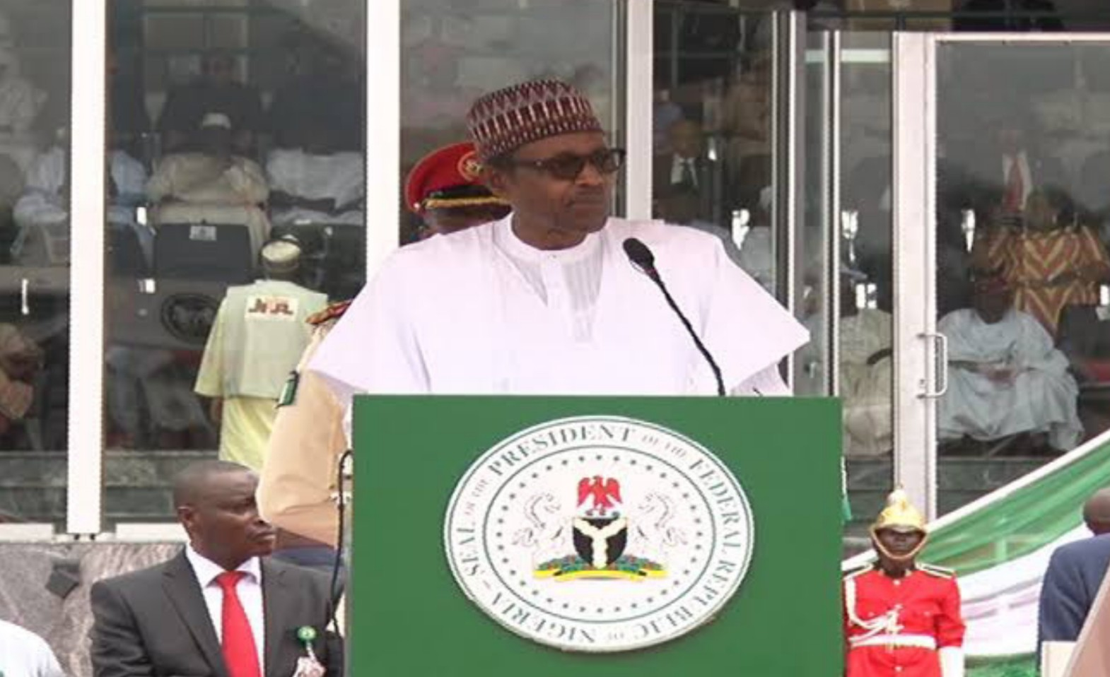 Buhari presides over low-key 60th Anniversary at Eagle Square
