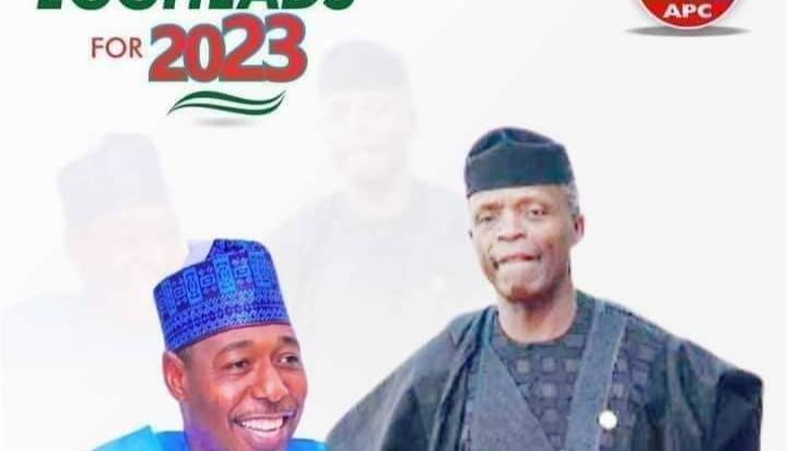 Campaign poster of Osinbajo for President, Gov Zulum as VP surfaces