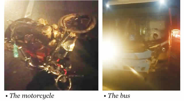 Two dead as motorcycle collides with BRT in Lagos