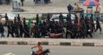 Hunters join #EndSARS protest in Osogbo to prevent thugs' infiltration