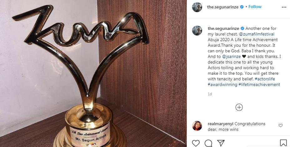 Zuma Film Festival: Segun Arinze Wins Lifetime Award