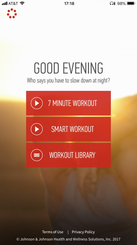 Best overall score: The Johnson & Johnson Official 7-Minute Workout