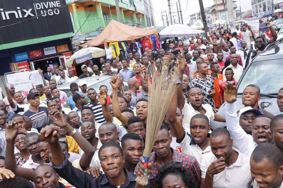 Photos: Godswill Akpabio arrives Uyo ahead of defection to APC tomorrow