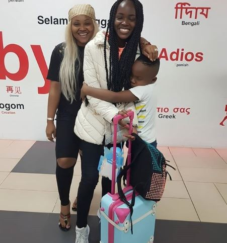 Mercy Aigbe shares emotional post as her 17-year old daughter, Michelle travels abroad to study (Photos)