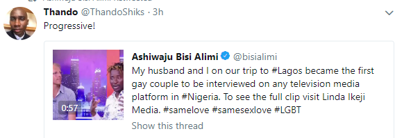 Social media users react to Bisi Alimi and his husband