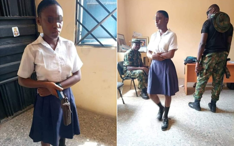 Nigerian Student Caught And Arrested For Taking Gun To School To Shoot Her Teacher In Akwa Ibom