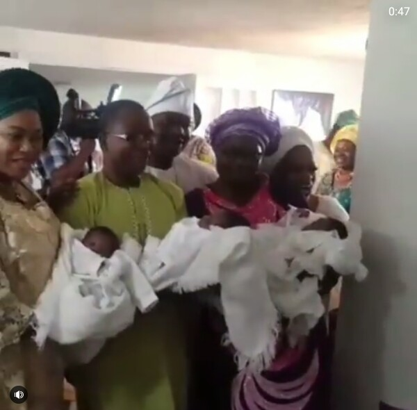 Photos: Nigerian couple welcome a set of triplets after 20 years of marriage