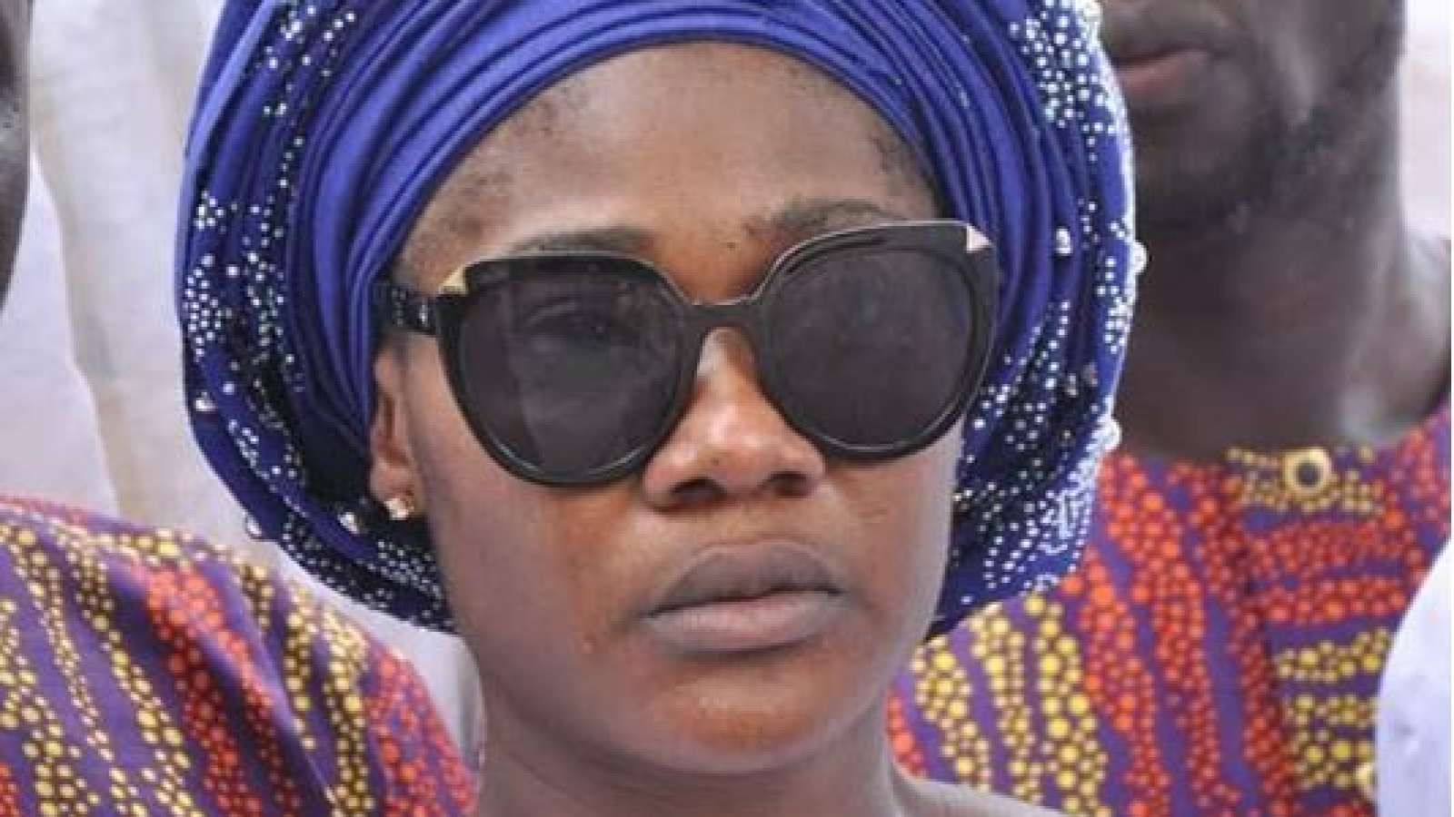 Mercy Johnson at her mother's burial