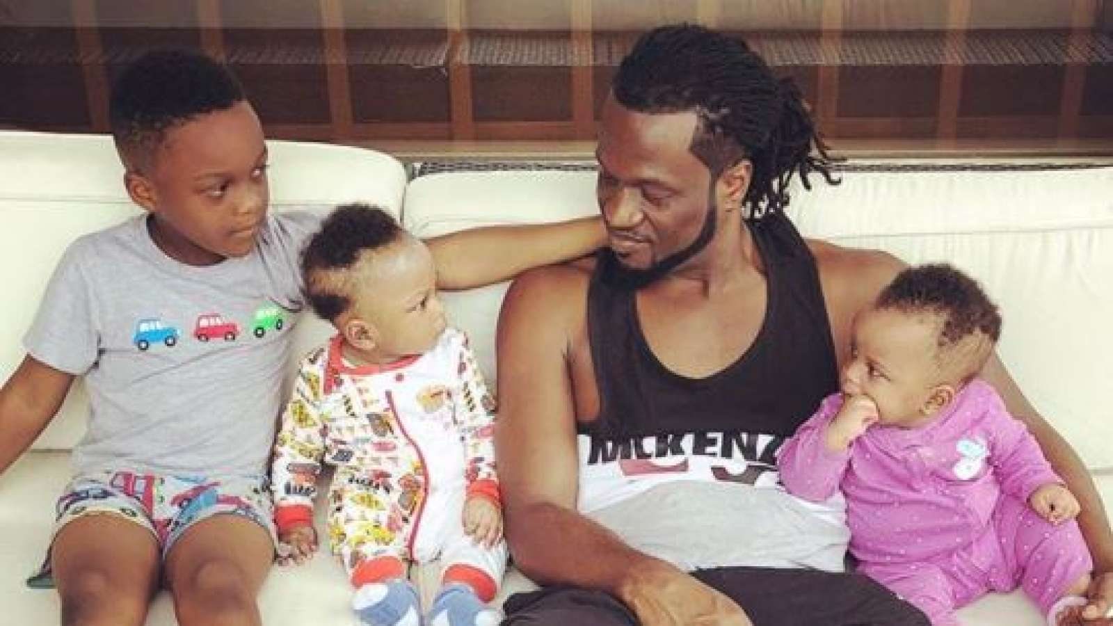 Paul Okoye and his kids